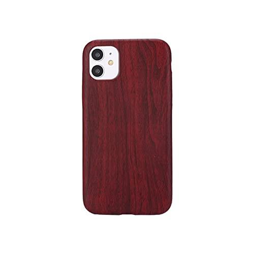 Funda de cuero de grano de madera 3D para iPhone X XR XS 11 Pro Max caso de silicona suave coque para iPhone 6s 7 8 Plus Xs Max SE 2020-estilo 9-para iPhone X XS