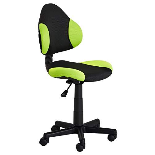 IDIMEX Kinderdrehstuhl Schreibtischstuhl Drehstuhl Alondra, schwarz/grün