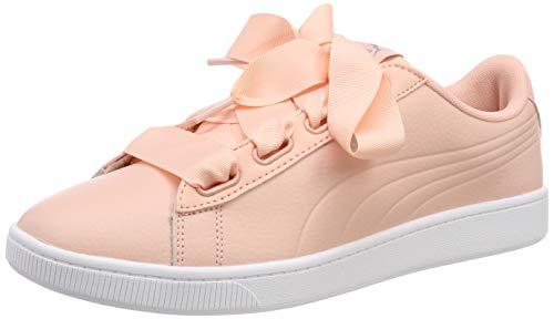 Puma Vikky v2 Ribbon Core, Damen Sneakers, Pink (Peach Bud-Puma Silver-Puma White), 38 EU
