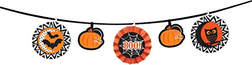 amscan- Decoration Halloween, 220089-55, Noir/Orange