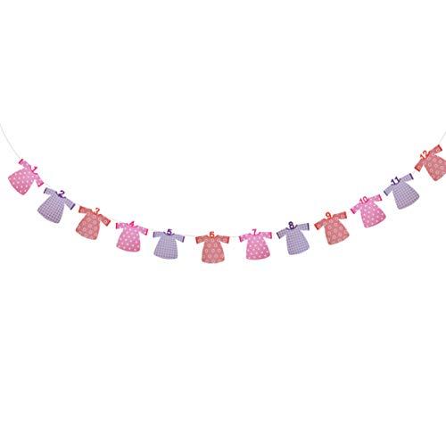 Amosfun pancartas de fotos de cumpleaños pancartas de fiesta de cumpleaños primeras decoraciones de cumpleaños para accesorios de fotomatón baby shower bunting garland