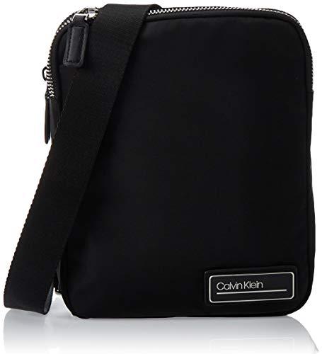 Calvin Klein Herren Primary 2g Flat Crossover Schultertasche, Schwarz (Black), 27x22x5cm