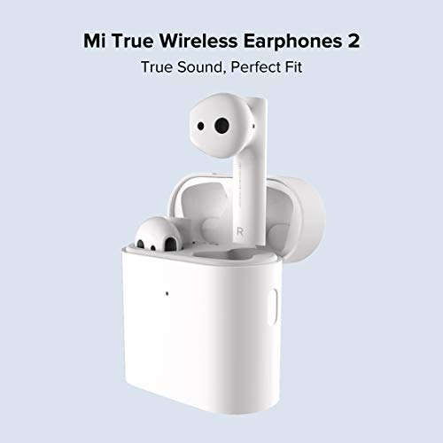 Mi True Wireless Earphones 2 with Balanced Sound,14 hrs Battery Life; 14.2 mm Dynamic Driver, Dual Mic Environment Noise Cancellation, One Step Pairing, Smart in-Ear Detection, LHDC Audio Codec