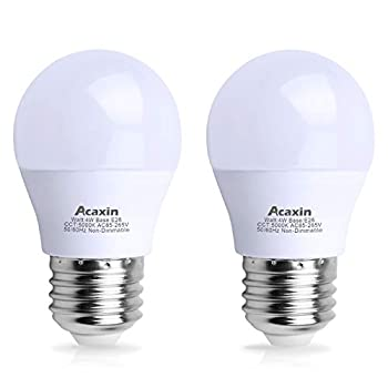 LED Refrigerator Light Bulb 4W 40Watt Equivalent Acaxin Waterproof Frigidaire Freezer LED Light Bulb IP54 120V E26 Daylight White 5000K 400 Lumen Energy Saving A15 Appliance Fridge Bulbs 2 Pack