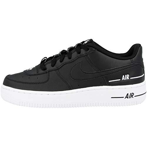 Nike Boys AIR Force 1 LV8 3 (GS) Basketball Shoe, Black/Black-White, 39 EU