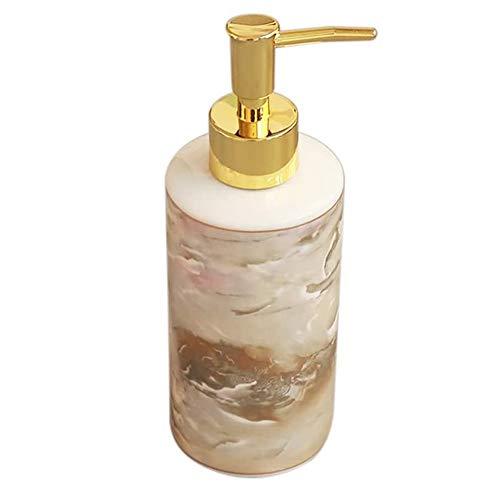 PPITVEQ Dispensador de jabón Cerámica Loción Redonda Botella Brillante Amarillo Anti-Rust Rust Bump Bottle Barra de Vidrio Barra de Aseo Dispensador de jabón para Cocina