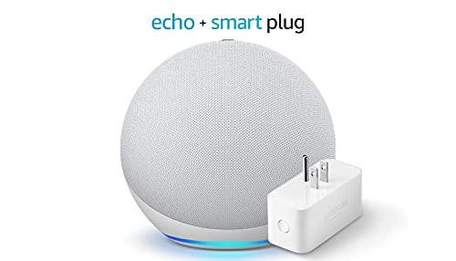 Echo (4th Gen) - Glacier White - bundle with Amazon Smart Plug