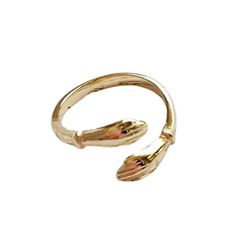 Gold Plated Love Hug Ring Adjustable Valentines Day Gift for Her