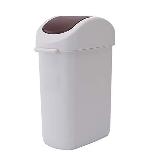 Schommel Top Bin Badkamer, Plastic Rechthoek Vuilnisbakken Verfijn Flip Top Waste Paper Basket Afval, Voor Keuken Kantoor Slaapkamer