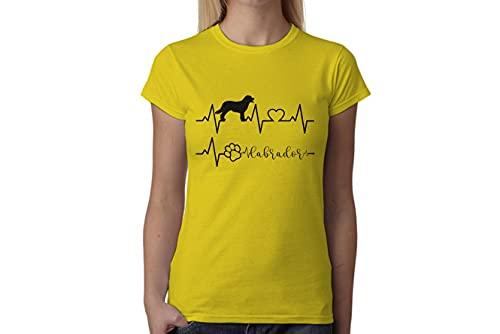 t-shirteria Tshirt electrocardiógrafo Labrador–I Love Labrador–Perros–Dog–Love–Humor–Tshirt simpatiche y Divertidos
