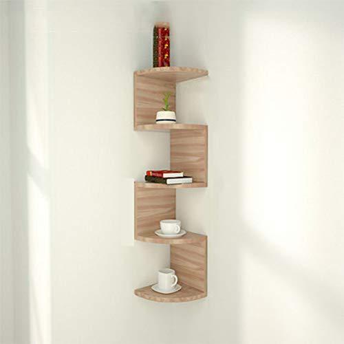 Dytxe-shelf plank met 5 niveaus, driehoekige wand-doucheplank, boekenplank voor keuken, badkamer, woonkamer, kantoor, hal enz.