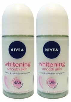 Nivea Whitening Smooth Skin Roll On 50 Ml - 2 Pk(Ship from India)