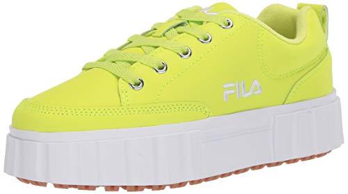 Fila Women's Sandblast Low Sneaker, Lime/Lime/Neon, 8.5