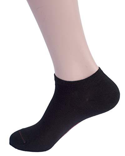 Hirsch Sports, Leichte Sneaker Socken Alex, 95% Baumwolle (kbA), 5% Elasthan (44/46, Schwarz)