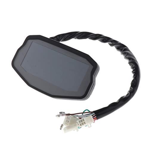 Gazechimp LCD Velocímetro Digital Odómetro Tacómetro de Sensor de Velocidad para Moto DC 8-12 V