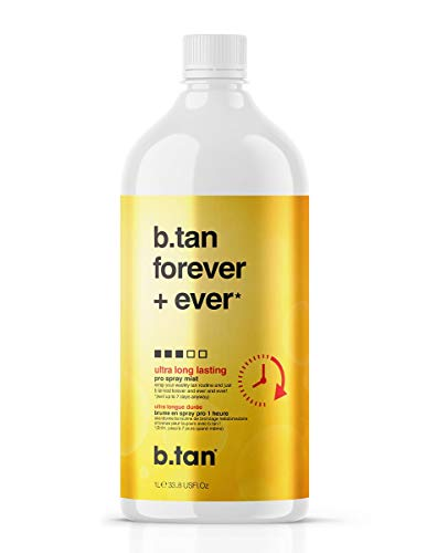 b.tan Spray Tan Solution - Forever & Ever Pro Spray Mist - Ultra Long Lasting Sunless Airbrush Tanning Solution, Lasts Up to 11 Days, 33.8 fl oz