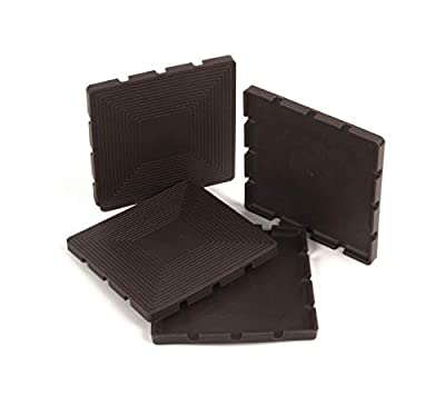"""Slipstick CB765 Non Slip Rubber Pads / Floor Protectors (Set of 4 Furniture Grippers) Stops Sliding and Protects Surfaces, 3-1/8"""", Brown"""