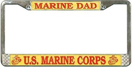U.S. Marine Dad License Plate Frame Free Screw Caps with this Frame