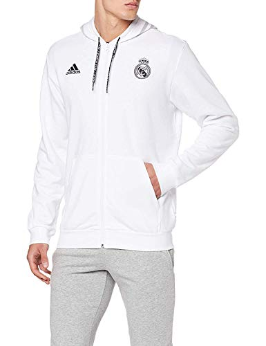 adidas Real FZ HD Sudadera, Hombre, Blanco/Gridos, XL