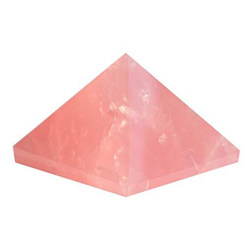 YARNOW Orgone Piramide Cristal Pirámide Generador de Energía Piedra para Chakra Reiki Protección de Equilibrio Feng Shui Ornamento para La Oficina en Casa Coche Rosa 3Cm