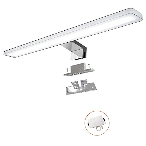 Cywer led Spiegelleuchte | Aufbauleuechte | Klemmleucht | Badleuchte | Schminklicht | Badezimmer Schrankleuchte | warmweiß | 45cm | IP44 | 10w | 1000lm | 230V