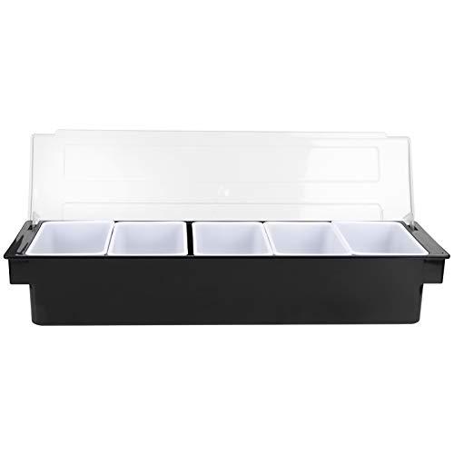 CHICIRIS Scatola per condimenti - Scatola per condimenti con coperchio Bar Porta condimenti Dispenser per contenitori di frutta Accessori per negozi di tè al latte(Tipo2)