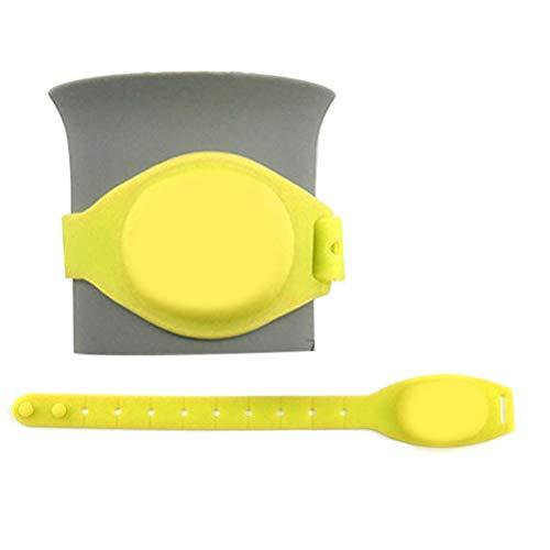 Rsoamy Dispensador de Mano de Brazalete de líquido portátil para niños Adultos Brazalete de Gel de Lavado a Mano para Deportes de Viaje al Aire Libre