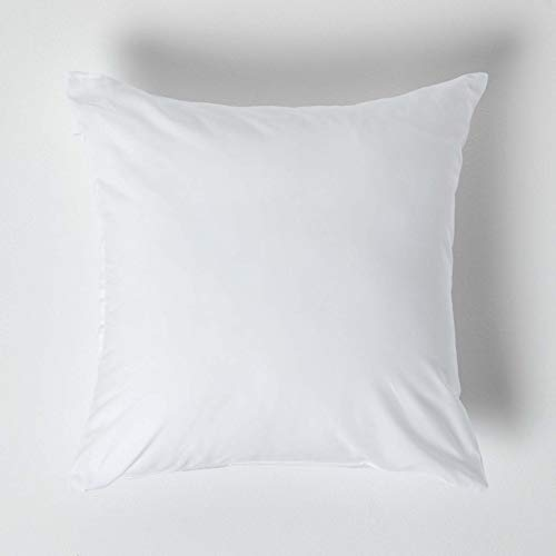 HOMESCAPES White Pure Egyptian Cotton Euro Size Pillowcase 40 x 40 cm 200 TC 400 Thread Count Percale Equivalent Pillow Case with Zip