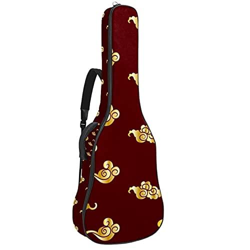 Bolsa para guitarra con diseño de nube china dorada, acolchada, funda de...