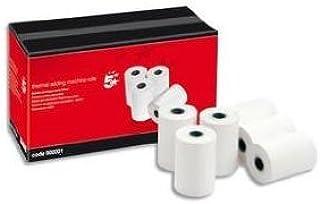 Papel térmico para calculadora con impresora (57 x 40 x 12,7 mm, 10 unidades)