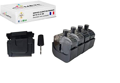 1 Kit de recarga negro Premium para cartucho HP301 HP 301XL compatible con las impresoras HP DeskJet HP OfficeJet HP Envy fácil económico y ecológico – Cometa Francia