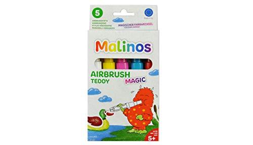 MALINOS 300967 Magic 5er Teddy inkl. Schablone A6 Airbrush, 10x20x2cm
