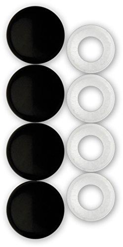 Cruiser Accessories 82650 License Plate Frame Fastener Caps, Black