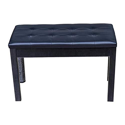 ZHRUNS Duet Piano Bench Wooden Keyboard Bench with Storage and Padded Cushion...