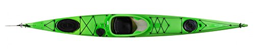 Preiswertes Tourenkajak, Kajak Seekajak von Tahe Marine Reval Mini LC PE, Farbe:Grün;Ausstattung:Mit Skeg/Ruder