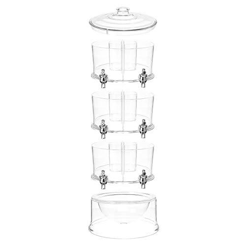 TuToy 3 Niveles Comercial Claro Bebida Fría Jugo Dispensador De Bebidas Máquina De Titular De Bebidas Heladas