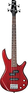Ibanez 4 String Bass Guitar, Right, Transparent Red (GSRM20TR)