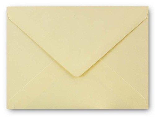 Faltkarten SET mit Umschlägen DIN A6 / C6 in Vanille | 20 Sets | Doppel-Karten & Briefumschläge aus Premium-Papier, 14,8 x 10,5 cm | bedruckbare Postkarten | ideal für Weihnachten, Grußkarten und Einladungen | Serie FarbenFroh aus dem Hause GUSTAV NEUSER - 2