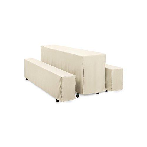 Hans-Textil-Shop Hussen-Set 220x50 cm Creme Polyester Bodenlang