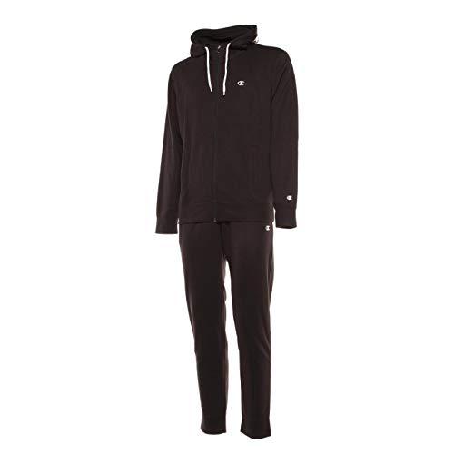 Champion Hooded Full Zip Suit col kk001 214411, Schwarz Large
