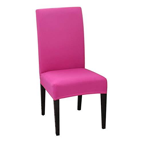 Nieuwe effen kleur stoelhoes spandex stretch elastische kussenovertrekken stoelhoezen wit voor eetkamer banket hotel keuken bruiloft, rose rood, china