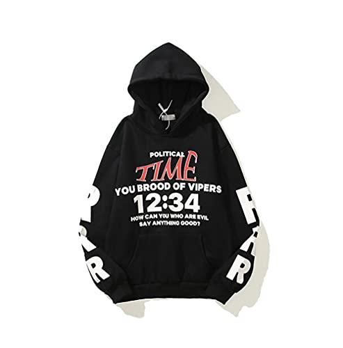Kanye Hoodie Merch Graphic Graffiti Fashion Rapper Pullover Sweatshirt Hoodies Trendy Hip-hop Streetwear Sweatshirts Black