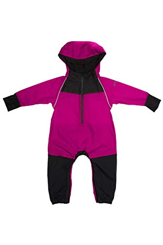 Stonz Rain Suit Muddy Buddy Waterproof Coverall for Baby Toddler Girl Boy Rainsuit Rain Coat, Fuschia, 18-24 mon
