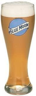 Blue Moon 16 Oz Pilsner Beer Glass Set of 2