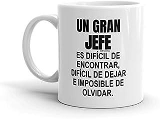 Un gran jefe es difícil de encontrar - regalos colega, regalos para compañeros, regalo para jefe, tazas desayuno originales, taza regalo, trabajo mujer hombre Navidad