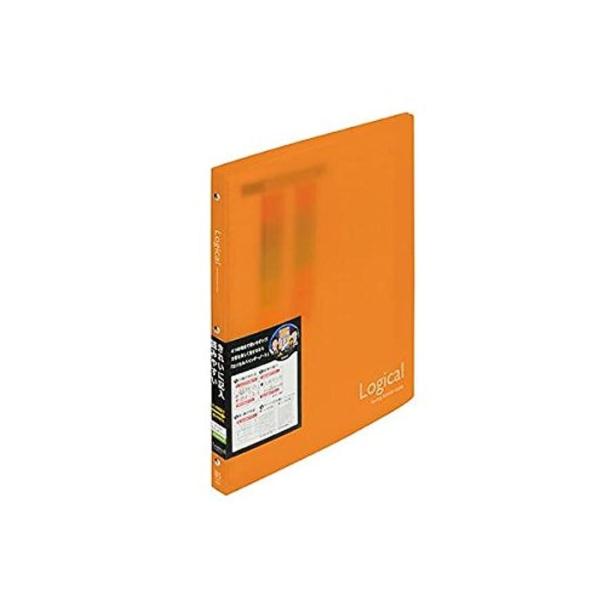 (お徳用3セット)ナカバヤシ ロジカルバインダーノート?スリム?B5 BN-B504A-OR オレンジ【×3セット】