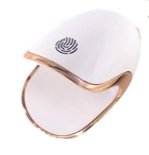 AIYIFU Máquina Secadora de Esmalte de Uñas Profesional, Mini Huevos de Dinosaurio Lámparas de Uñas UV LED para Esmalte de Uñas de Gel, Lámpara de Curado de Secador de Uñas Portátil de 6W,White