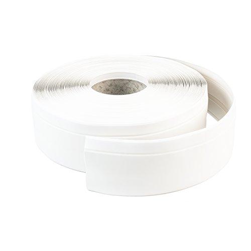 DQ-PP WEICHSOCKELLEISTE | 25m | weiss | 50x15mm | PVC | selbstklebend | Knickwinkel Fussleisten Gummileiste Sockelleiste Winkelprofil Abschlussleiste Bodenleiste