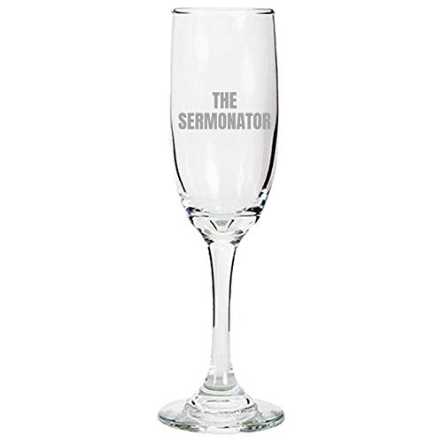 Divertido regalo Pastor Predicador, idea de regalo de ministro, regalo de la flauta de champán sermonador