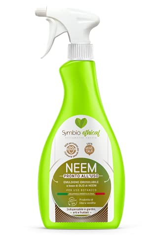 Symbioethical neem - Pronto all uso 1 Litro Spray 100% vegetale a base di olio di neem - Made in Italy